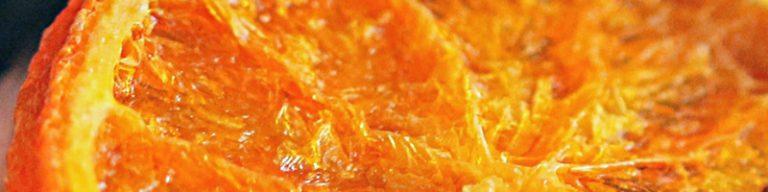 Ausschnit einer Orangenscheibe