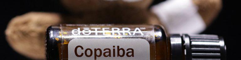 Copaiba Öl-Fläschchen liegend