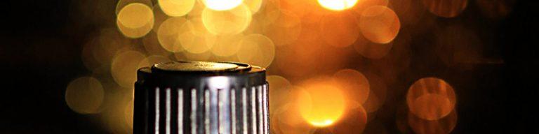 Lichtperlen orange, Schraubverschluss von Ölfläschchen