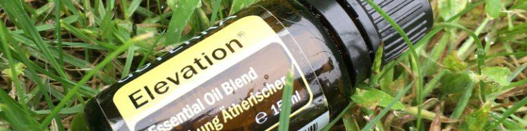 Ölfläschchen Elevation im Gras